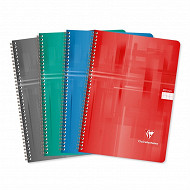 Clairefontaine cahier spirale 21x29.7 cm grands carreaux 100 pages 90 grammes