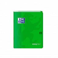 Easybook cahier agrafé 17x22 cm 96 pages 90 grammes seyes vert