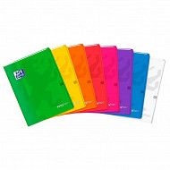 Oxford cahier easy book agraffe 240x320 96 pages 90 gr seyes assorti