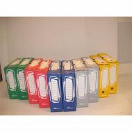 10 boites archives dos 8 cm à plats sous film