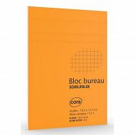 Cora bloc agrafé a6 105x148 mm 160 pages 80 grammes petits carreaux