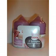 Cora bougies x2 D48H85 tendre macaron