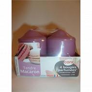 Cora bougies x4 D40H56 tendre macaron