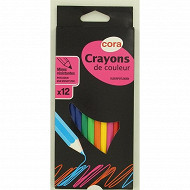 Cora - Boite 12 crayons plastique