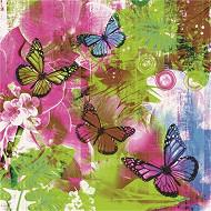 Cora 20 serviettes 33x33 cm 3 plis aquarelle de papillon