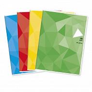 Cora cahier piqure 24x32 192p seyes 90 gr couverture polypro