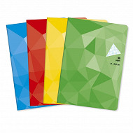 Cora cahier piqûre (agrafe) 21x29.7 cm 96 pages petits carreaux  90g couverture vernie