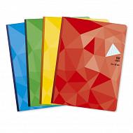 Cora cahier brochure  24 x 32 cm 192 pages seyes grands carreaux  90g couverture vernie