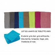 Lot de 6 gants 16x21cm coloris assortis
