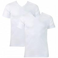 Lot de 2 Tee-shirt manches courtes col V Duo Choc Athena 300 BLANC/BLANC T6