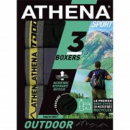 Lot de 3 boxers ligne Outdoor Athena 2100 N/GRI/N/C.CHIN JAUNE T7