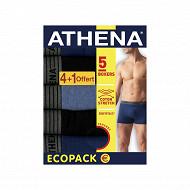 Lot de 4 boxers +1 offert Athena 2111 BLE/NOI/BLEU CH/NOI/BLE T4