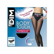 Collant transparent ventre plat body touch Dim NOIR T4