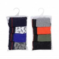 Lot de 4 boxers GRIS/BLEU/VERT/MARINE 6/8 ANS