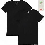 Lot de 2 tee-shirts manches courtes col V NOIR/NOIR T7