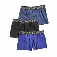 Boxers garçon lot de 3 influx NOIR/ENCRE/INDIGO 6\8 ANS