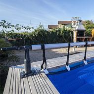 Enrouleur piscine hors sol de 1,25 à 6m de large