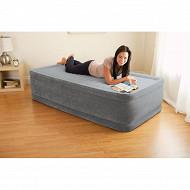 Lit gonfable comfort plush 1 place elec fiber tech