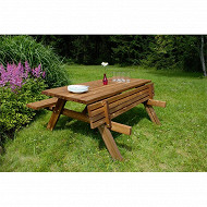 Ekju table forestière dim 177X154XH74cm