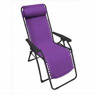 Relax multipositions violet 65.5x91x116xm acier/pl enduit pvc