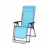 Relax multipositions 65.5x91x116cm bleu acier/polyesterter pvc bleu