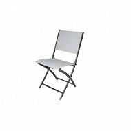 Chaise pliante acier epoxy text. 46X60X86 gris
