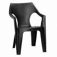Allibert fauteuil monobloc Dante graphite bas dossier