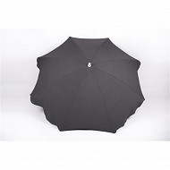 Anjosa parasol 180/8/22/25 mat inclinable aluminium uni gris n°5