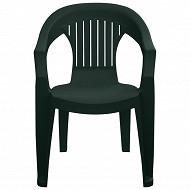 """Grandsoleil fauteuil """"sole"""" coloris anthracite 57x61.5x79 cm"""