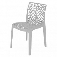 Grandsoleil chaise gruvyer polypropylène coloris blanc