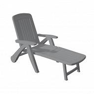 Bica bain de soleil atlantide gris 72x190x60 cm