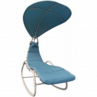 Chaise à bascule en acier avec coussin dim 167x124x201 cm
