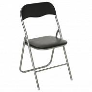 Chaise pliante basic noir