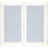 Paire de vitrage étamine unie 60x120 cm blanc