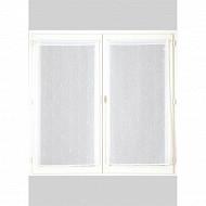 Paire de vitrages étamine fantaisie 60x160 cm