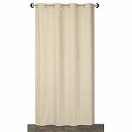 Panneau tissu lourd polyester coton 140x350 cms galet