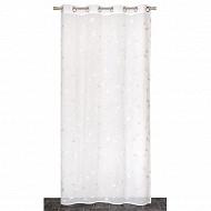 Panneau étamine à rayures 140x240 cm naturel