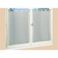 Paire de vitrage étamine fils coupes 60x120 cm gris
