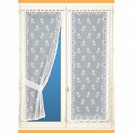Paire de rideaux bonne-femme 60x160 cm blanc