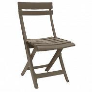 Grosfillex chaise miami pliante taupe 80x50x42 cm