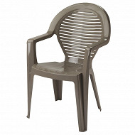 Grosfillex fauteuil manoa taupe 590X580X910