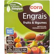 Cora engrais fruits et légumes 4kg uab