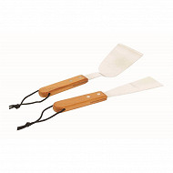 Verciel set pour plancha grattoir et spatule 27cm