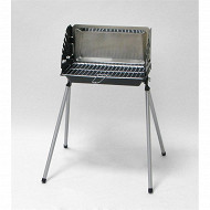 Somagic barbecue barbeco charbon de bois cuve fonte 41x23cm