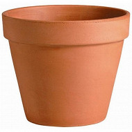 Deroma vase brut 21 cm pots horticoles terre cuite