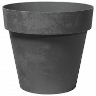 Pot plastique anthractie 30 cm