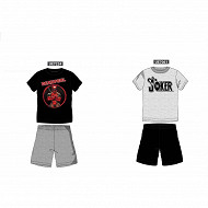 Pyjama short junior garçon GRIS/NOIR JOKER S