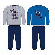 Pyjama long manches longues velours MARINE 10 ANS