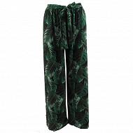 Pantalon large femme VERT T48