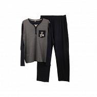 Pyjama homme MARINE/ RAYE GRIS XXL
